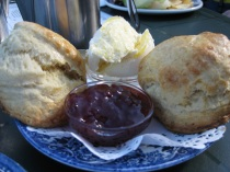 Cream tea in UK