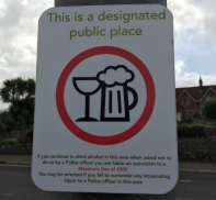 public place - don't drink