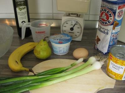 Zutaten für die Pfannkuchen