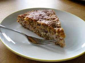 Kuchen auf dem Teller Hausfrauenmethode