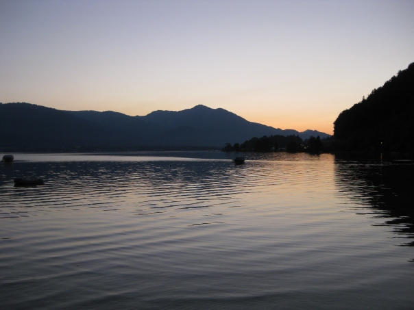 Sonnenuntergang am Wolfgangsee