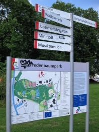 Wegweiser Fredenbaumpark Dortmund