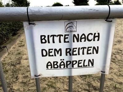 Bitte nach dem Reiten Abäppeln - in Dortmund