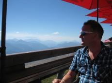 Glücklich über Bergen - hier Sven