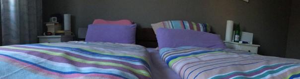 gemachtes Bett schlaf schön