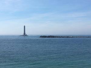 Leuchtturm im Meer Normandie